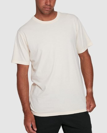 6 Rvca Washed Short Sleeve Tee White R105050 RVCA