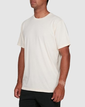 7 Rvca Washed Short Sleeve Tee White R105050 RVCA
