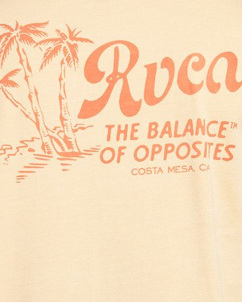 5 TROPICAL DISASTER SHORT SLEEVE TEE  R105054 RVCA