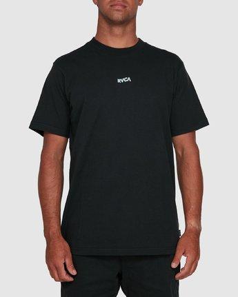 1 WARPING SHORT SLEEVE TEE Black R105055 RVCA