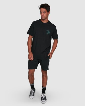6 RVCA TOWING SHORT SLEEVE TEE  R105061 RVCA