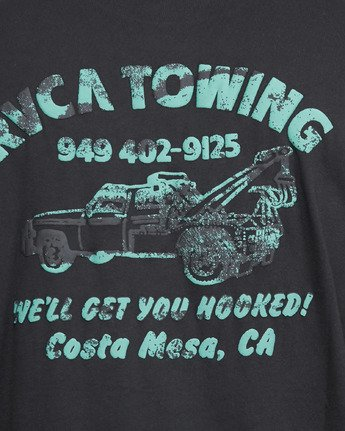 5 RVCA TOWING SHORT SLEEVE TEE  R105061 RVCA