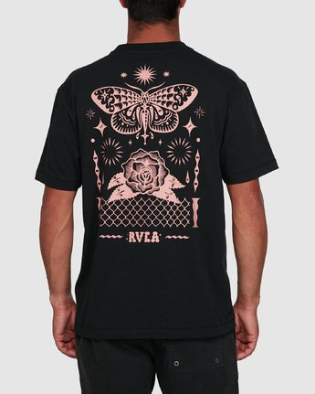 3 FAUNA SHORT SLEEVE TEE Black R105068 RVCA