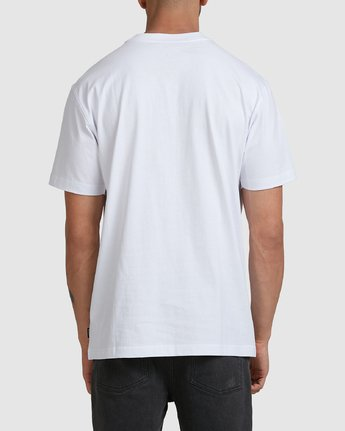 2 CHAINMAIL POCKET SS TEE White R105069 RVCA