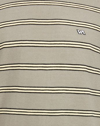 5 BLOOM PIQUE STRIPE LS TEE Green R105091 RVCA
