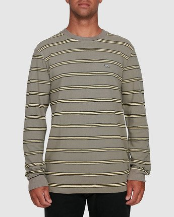 1 BLOOM PIQUE STRIPE LS TEE Green R105091 RVCA