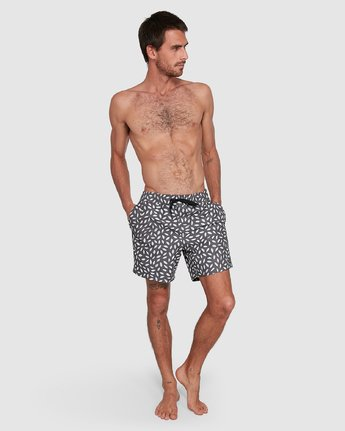 8 RADIAL ELASTIC SHORT Black R105400 RVCA