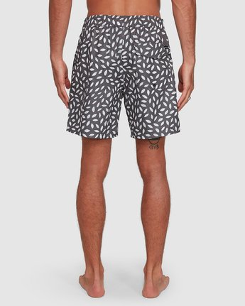 6 RADIAL ELASTIC SHORT Black R105400 RVCA