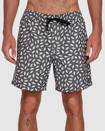 3 RADIAL ELASTIC SHORT Black R105400 RVCA
