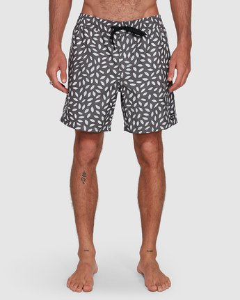 5 RADIAL ELASTIC SHORT Black R105400 RVCA
