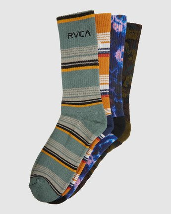 13 Rvca Seasonal Sock 4 Pack Grey R105601 RVCA