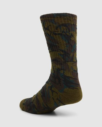 8 Rvca Seasonal Sock 4 Pack Grey R105601 RVCA