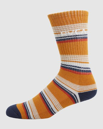 1 Rvca Seasonal Sock 4 Pack Grey R105601 RVCA