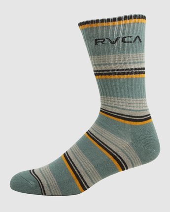 2 Rvca Seasonal Sock 4 Pack Grey R105601 RVCA