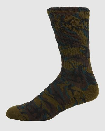 4 Rvca Seasonal Sock 4 Pack Grey R105601 RVCA