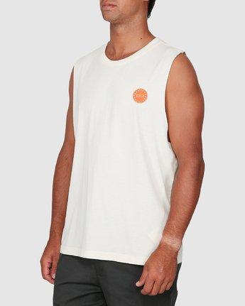 1 Sun Of Rvca Muscle Top White R106008 RVCA