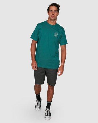5 Longitude Short Sleeve Tee Green R106042 RVCA