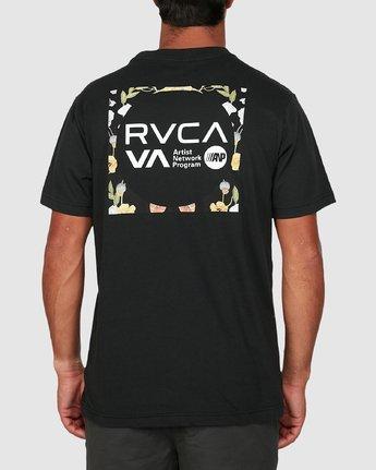 2 Anp Knockout Velia Short Sleeve Tee Black R106055 RVCA
