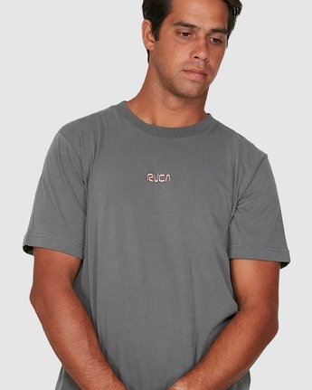 3 Cantina Short Sleeve Tee Grey R106057 RVCA