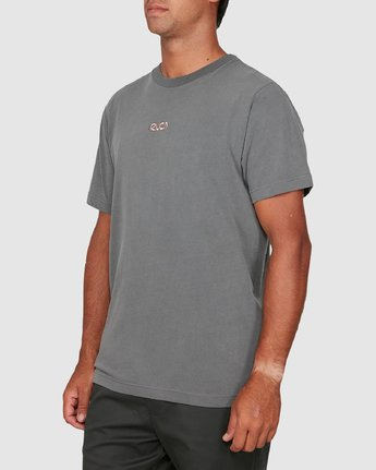 1 Cantina Short Sleeve Tee Grey R106057 RVCA