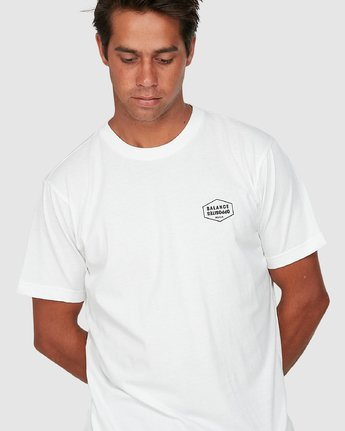 3 Rvca Hex Short Sleeve Tee White R106058 RVCA