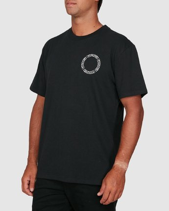 1 Baker Rvca Short Sleeve Tee Black R106068 RVCA