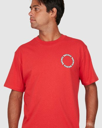 3 Baker Rvca Short Sleeve Tee Red R106068 RVCA