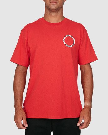 0 Baker Rvca Short Sleeve Tee Red R106068 RVCA