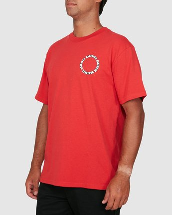 1 Baker Rvca Short Sleeve Tee Red R106068 RVCA