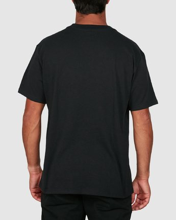 2 Ransom Short Sleeve Tee Black R106069 RVCA