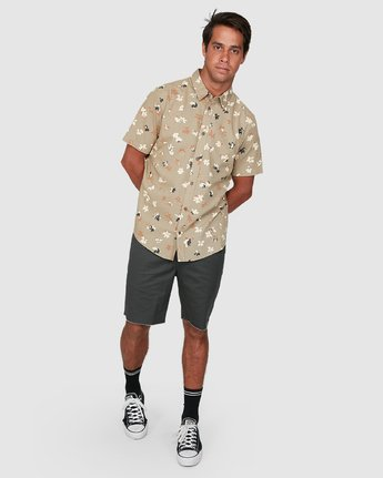 5 Tourist Short Sleeve Shirt Yellow R106186 RVCA