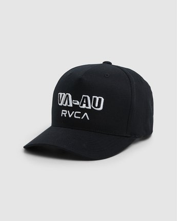 0 Rvca Shadow Pinched Trucker Cap Black R106564 RVCA