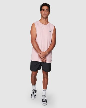 5 Ammo Muscle Top Pink R107001 RVCA