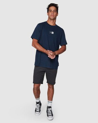 5 Upside Short Sleeve Tee Blue R107042 RVCA