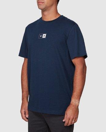 2 Upside Short Sleeve Tee Blue R107042 RVCA