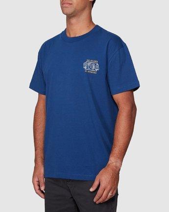 2 Heat Wave Short Sleeve Tee Blue R107047 RVCA