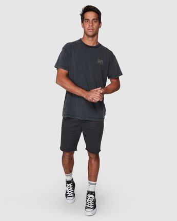 5 Balanced Short Sleeve Tee Black R107050 RVCA