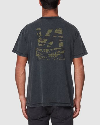 3 Balanced Short Sleeve Tee Black R107050 RVCA