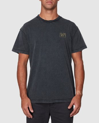 1 Balanced Short Sleeve Tee Black R107050 RVCA