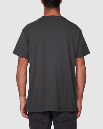 3 Italic Short Sleeve Tee Black R107052 RVCA