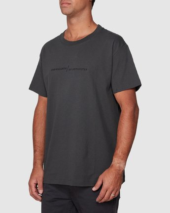 2 Italic Short Sleeve Tee Black R107052 RVCA