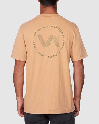 3 Sound Waves Short Sleeve Tee Yellow R107058 RVCA