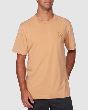 0 Sound Waves Short Sleeve Tee Yellow R107058 RVCA