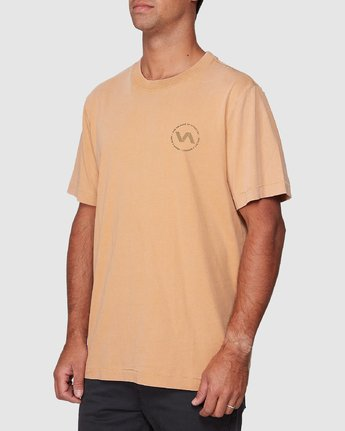 2 Sound Waves Short Sleeve Tee Yellow R107058 RVCA