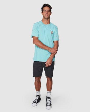 5 DMOTE Aloha Short Sleeve Tee Blue R107065 RVCA