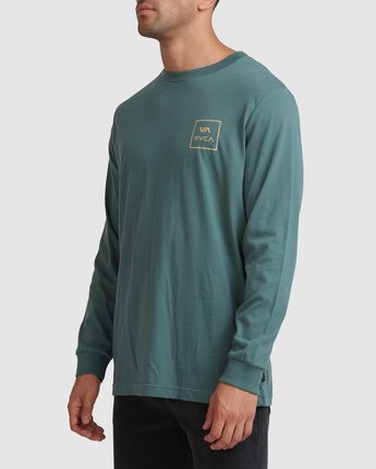 1 VA All The Ways Long Sleeve Tee Green R107091 RVCA