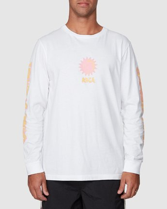 1 Cruel Summer Long Sleeve Tee White R107094 RVCA