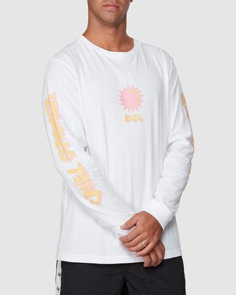 0 Cruel Summer Long Sleeve Tee White R107094 RVCA