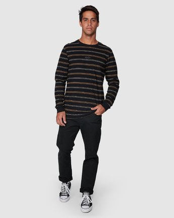 5 Merc Stripe Long Sleeve Tee  R107095 RVCA