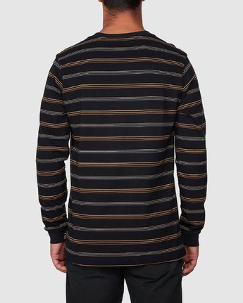 3 Merc Stripe Long Sleeve Tee  R107095 RVCA